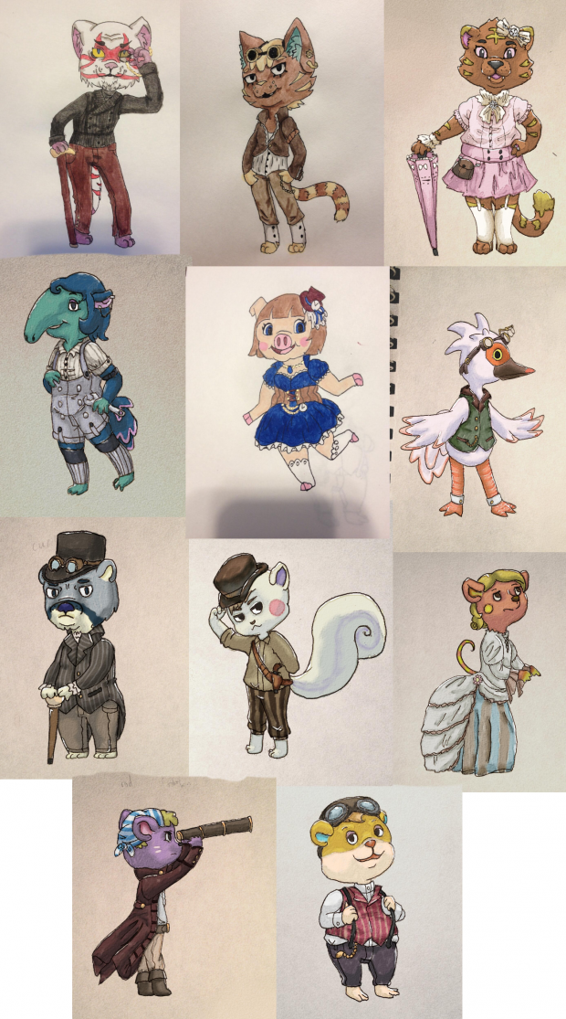 Victorian themed Villagers!