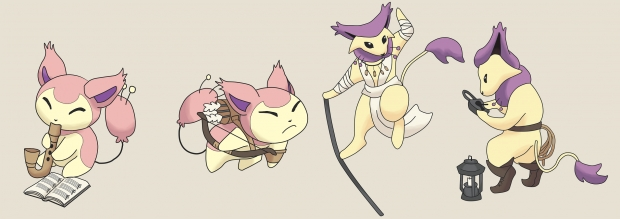 Skitty and Delcatty D&D