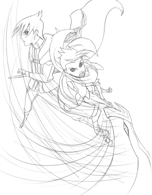 Rush and Skye lineart