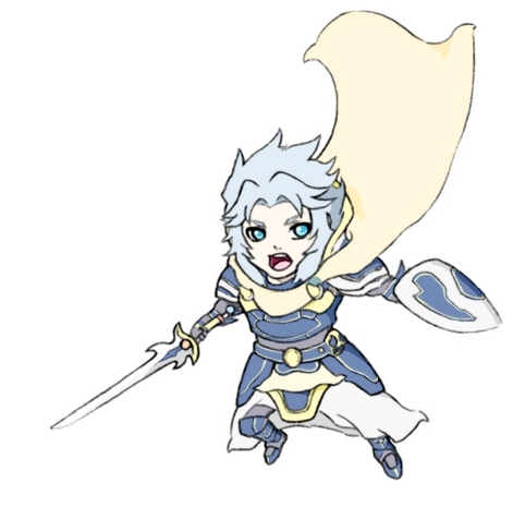 Warrior of Light chibi