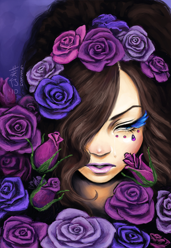 A Memory of Violet Roses