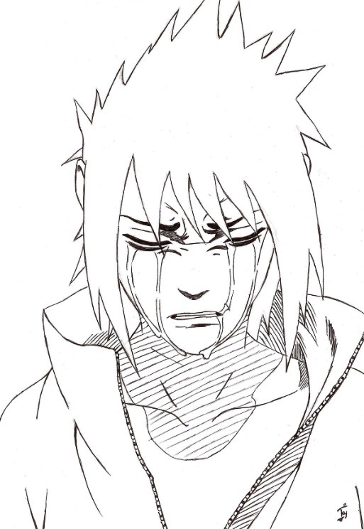 Crying Sasuke