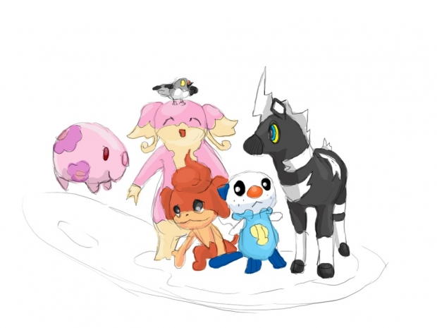 Pokemon white team