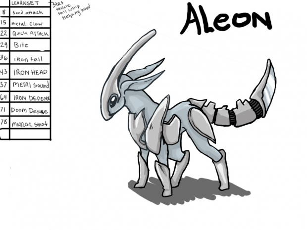 Aleon- Steel Eeveelution, with learnset!