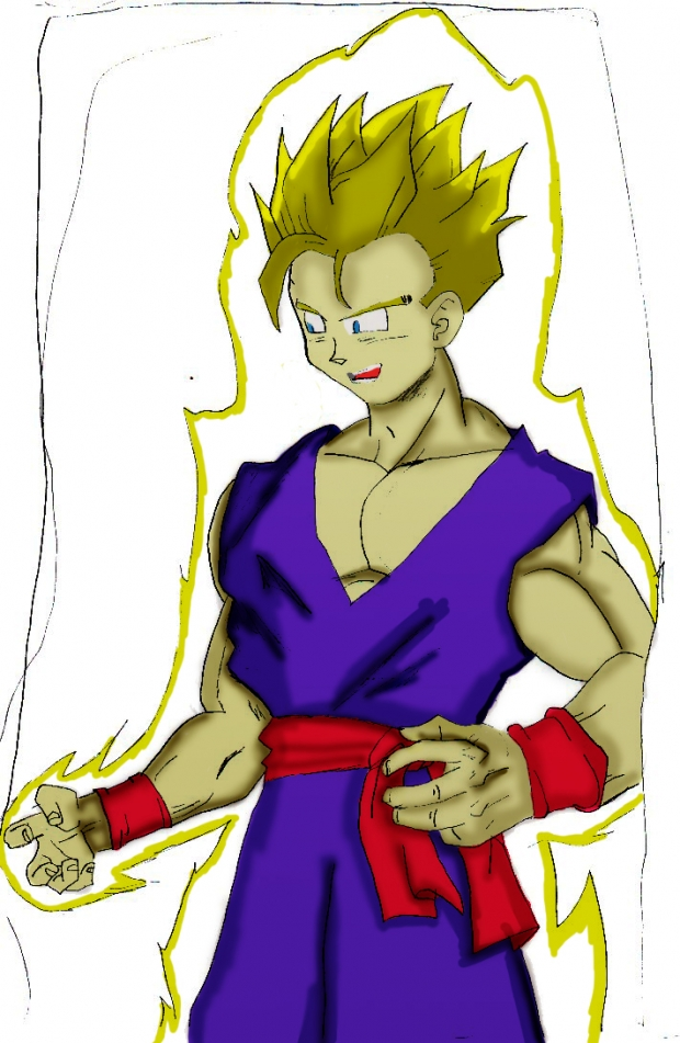 Gohan ssj training color