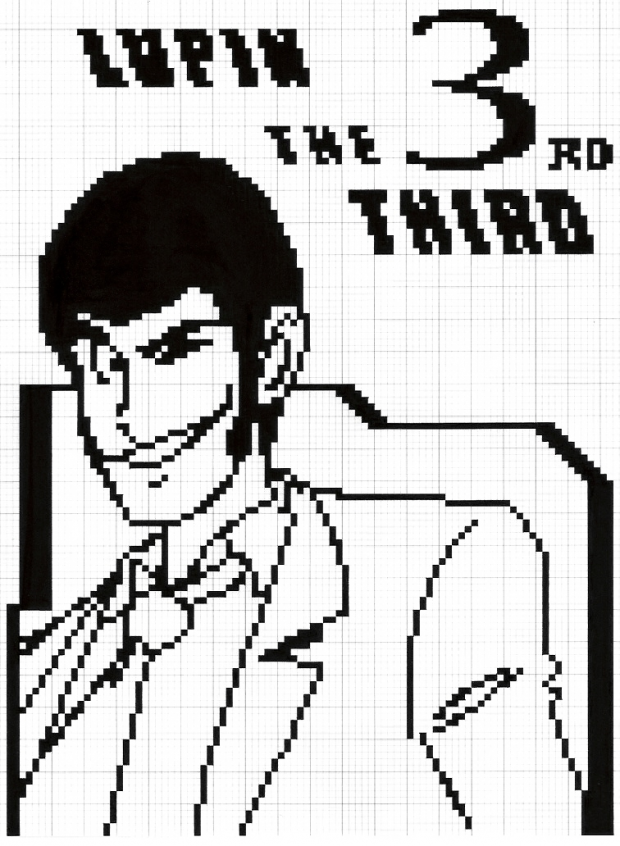Lupin The Third in pixel 001
