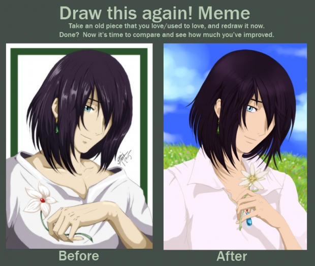 Howl Before and After Meme