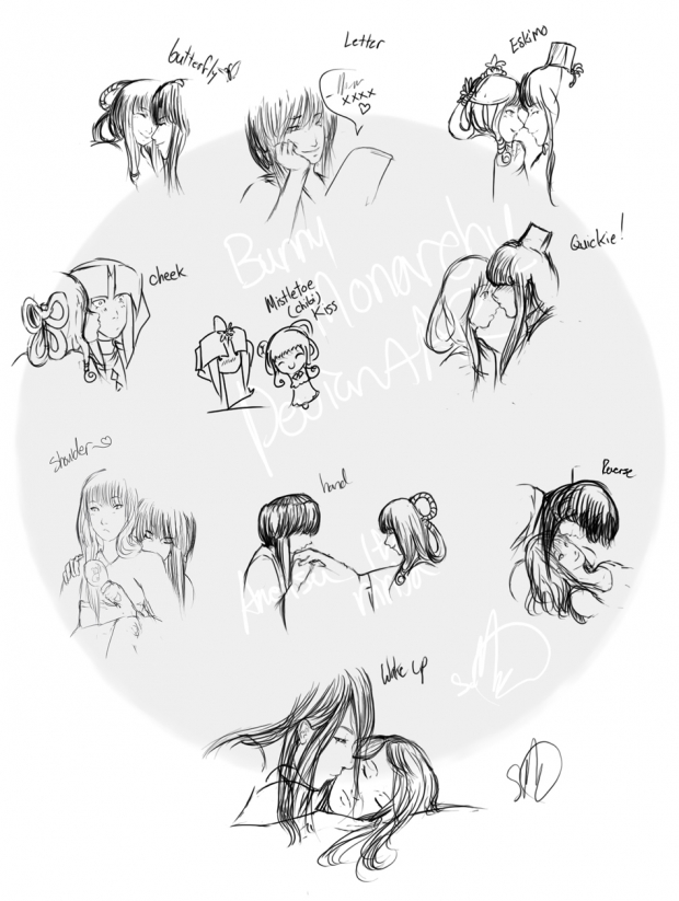 10 Kisses in a Sketch