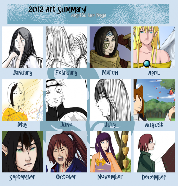 Ame's 2012 Art Summary