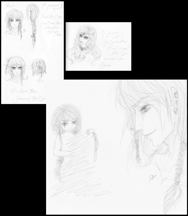 Reign Character Concept Sketches