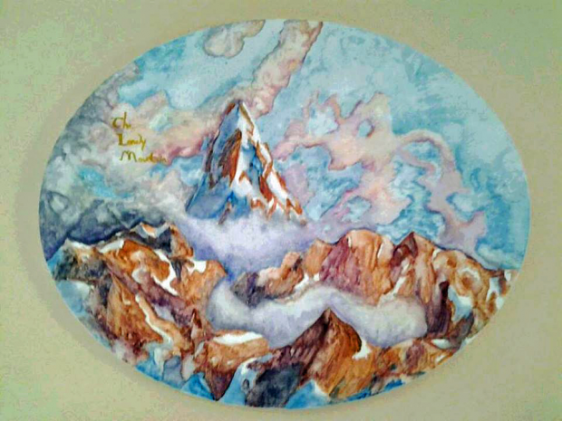 The Lonely Mountain Watercolor