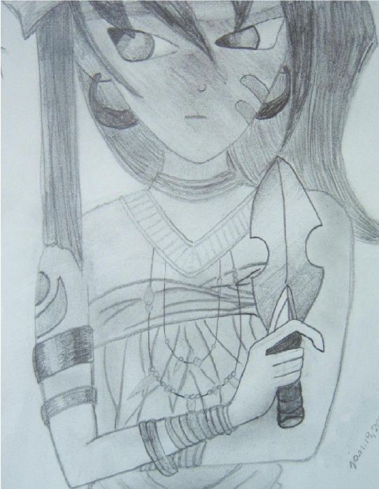 Drawing5(lady Assailant Of Flames)
