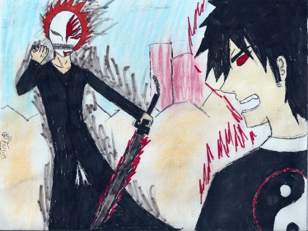 Hollow Ichigo VS. Onime no Kyo