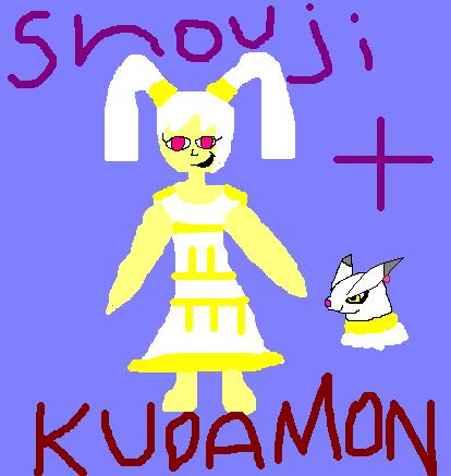 Shouji and Kudamon (New Digimon OC)
