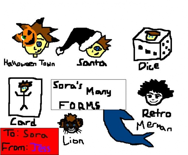 Sora's Many Forms (For Sora)