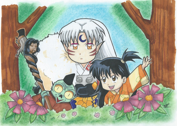 Sesshomaru, Rin and Jaken