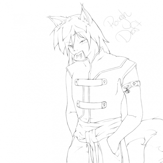 Line Art for Male Kitsune