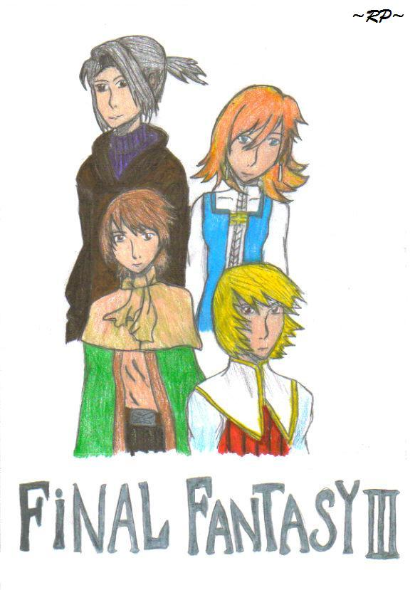 Luneth, Refia, Arc, and Ingus