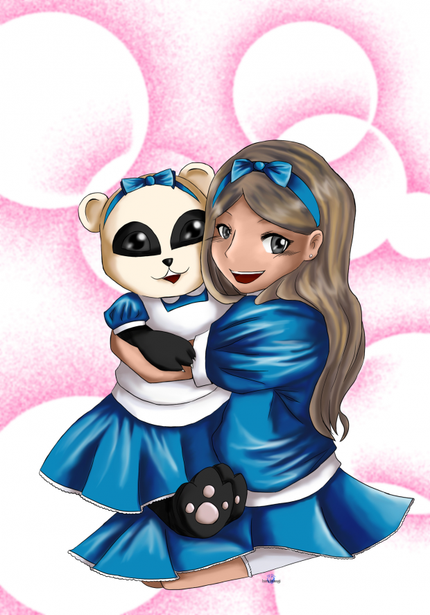 Alice and Panda in Wonderland
