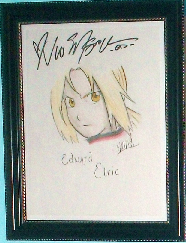 Edward Elric~signed by Vic Mignogna