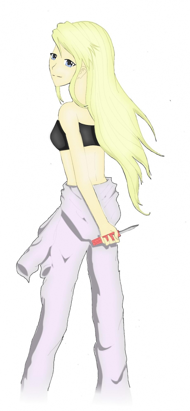 Winry and Screwdriver