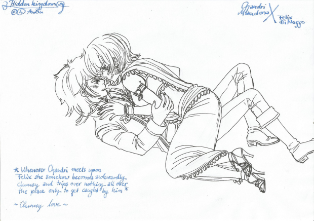 Clumsy love lineart