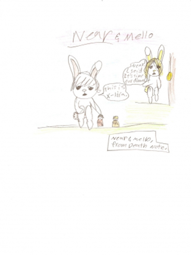 Near and mello as bunnys!!!!