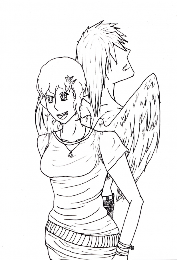 Burn My Wings cover~lineart~