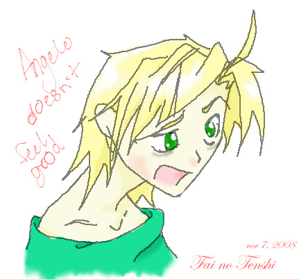 Angelo's havin' a sick day... =_=