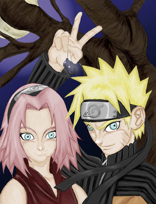 naruto and sakura got bells colored