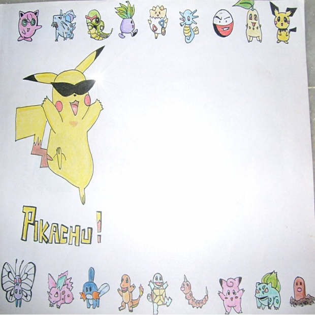 PIKACHU  &  FRIENDS