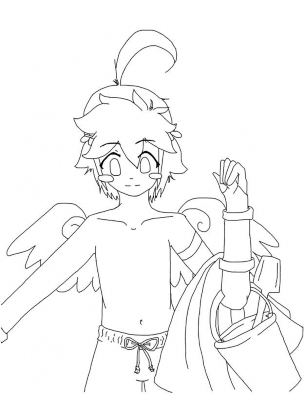 Piiiit~ at the Beaaaach~ :D (Line Art)