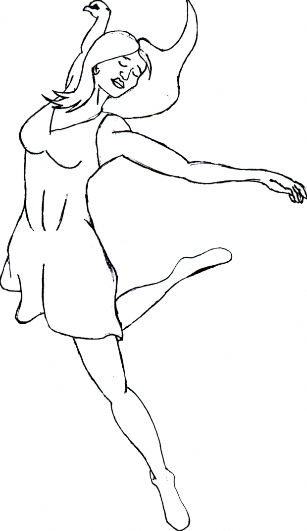 female dancer sketch