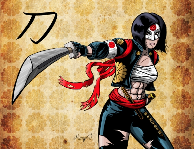 Suicide Squad's Katana Colored
