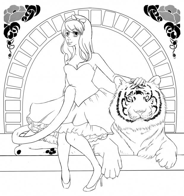 Tiger - Lineart