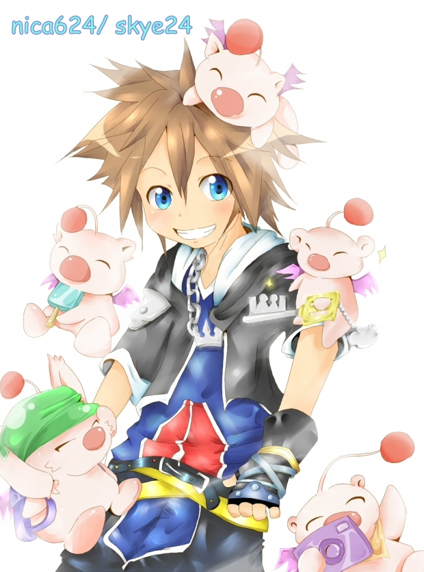 Sora and Moogles