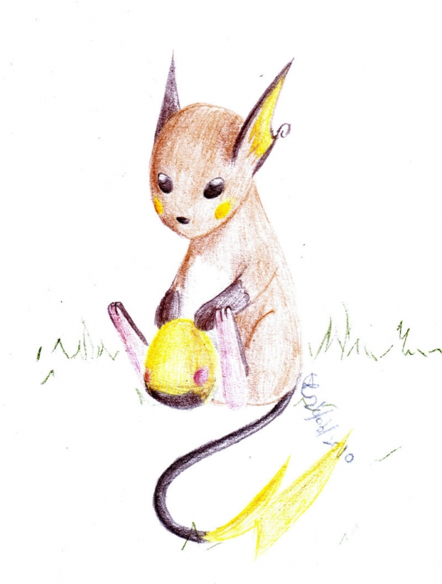Raichu and an Egg