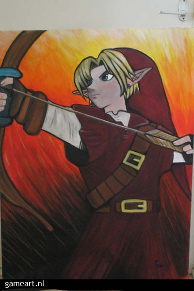 Link with Bow in red tunic