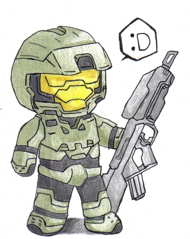 Class doodle: Mini master chief