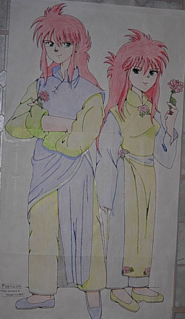 Kurama And Rose Side By Side