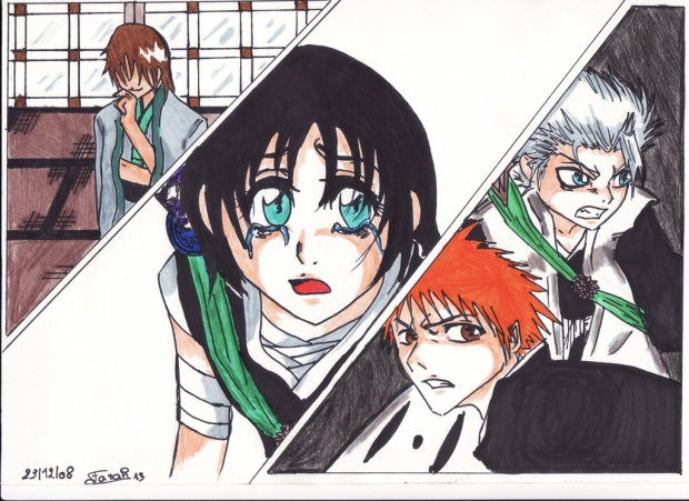 My Own Story Banner: Toushirou, Ichigo and Hakusho