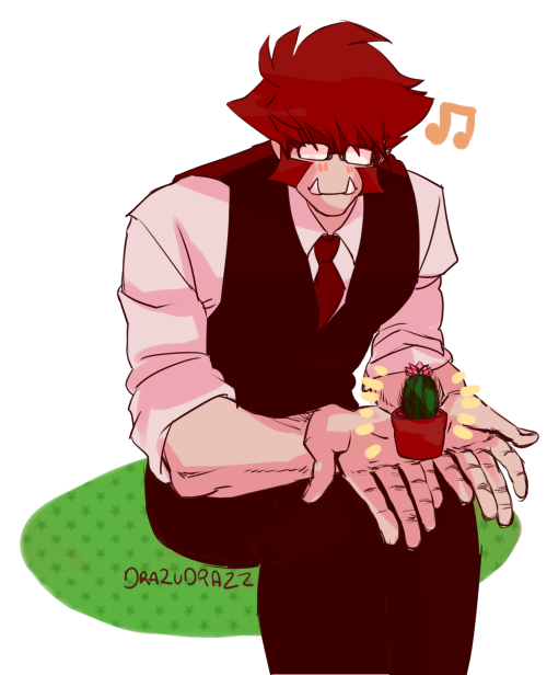 klaus and baby cactus