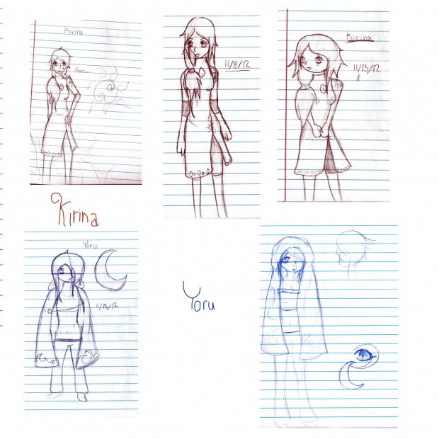 Kirina and Yoru Sketches