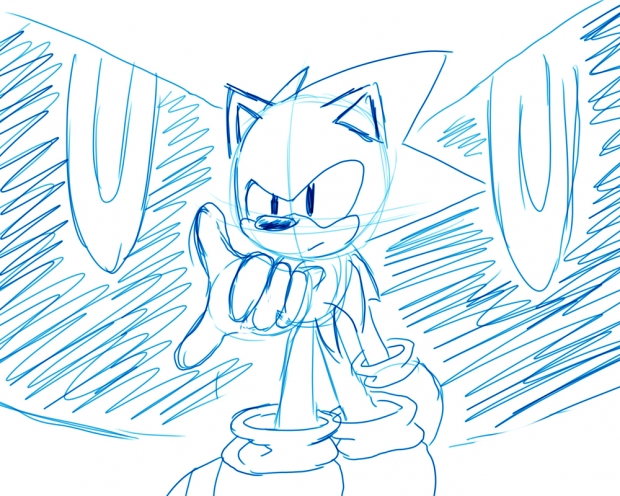 5 minute drawing - Sonic CD
