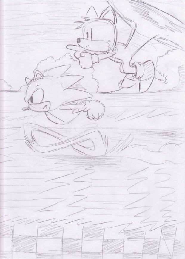 Sonic and Tails Run (Uncolored)