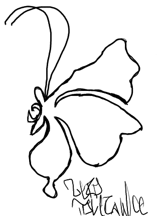 Butterfly (uncolored)