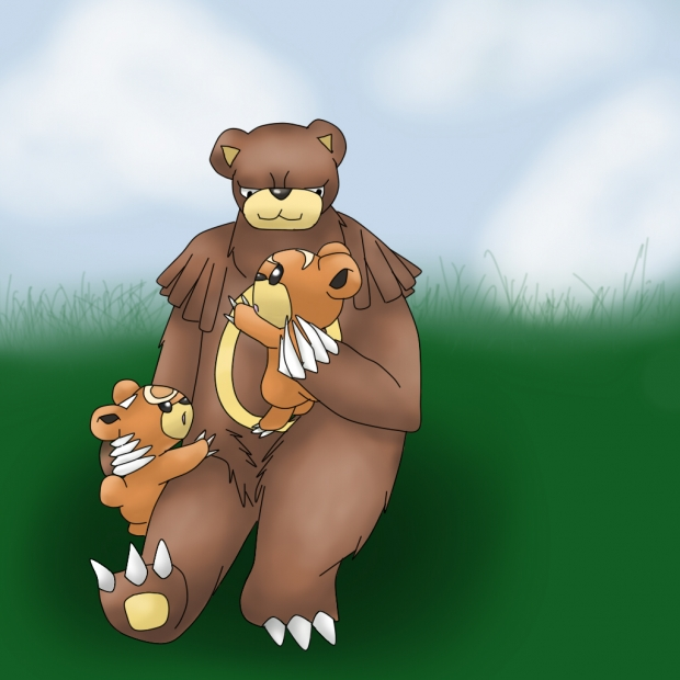 Mother Ursaring and baby Teddiursa