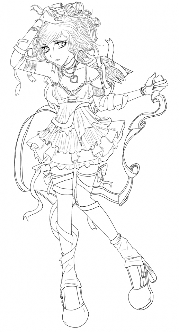 Lineart of Carrie