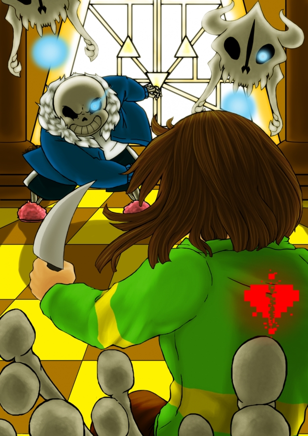 Commission: Sans vs. Chara