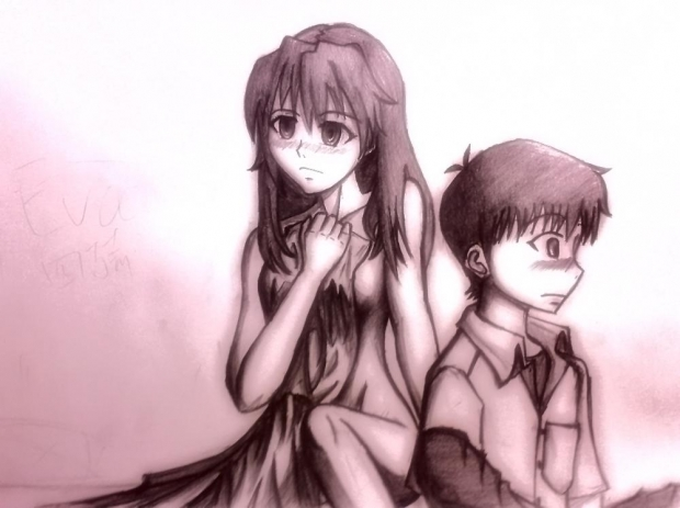 Asuka and  Shinji